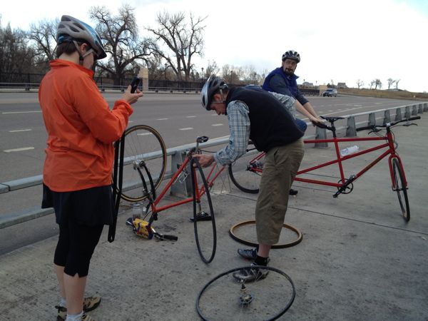 """Our friend changed the flat tire so speedily, I wanted to time him, a la """"The Christmas Story."""""""