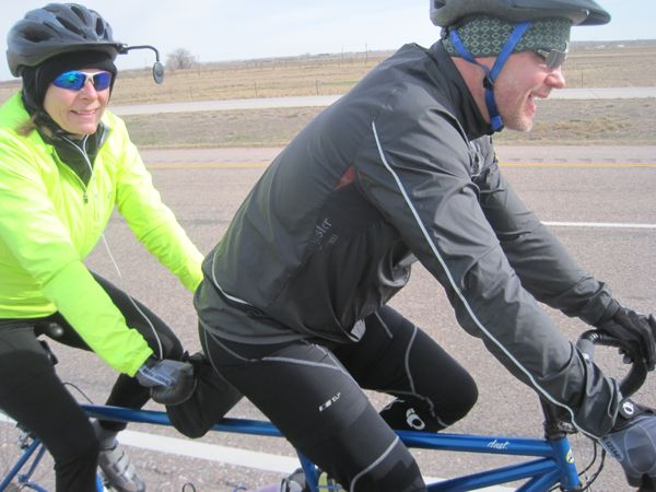 "Among the cyclists were four other sets of tandem riders! It's becoming a ""thing"" in western Nebraska! Alas, the other cyclists seem to be significantly faster than us, so group rides in the future seem unlikely."