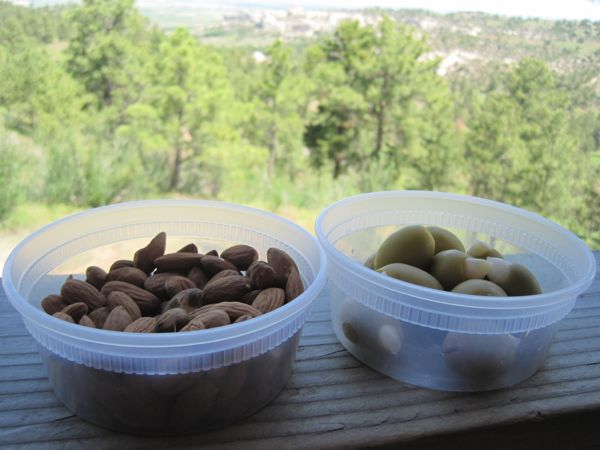 The salty olives were sooo gooood after sweating up that big hill! (15.33 miles, 1,039 feet of climb)