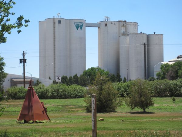 Great Western sugar silos and a metal tipi