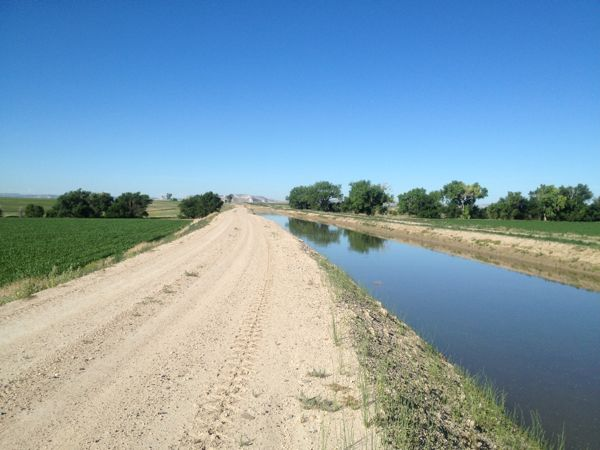 "A Wyobraska ""ditchbank"" run can be quite pleasant. The only drawback is that if you meet a ditchrider or farmer, the canal road is only one way, so you may have to yield."