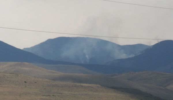 There's the smoke from the dadgum fire that rerouted our bike tour.