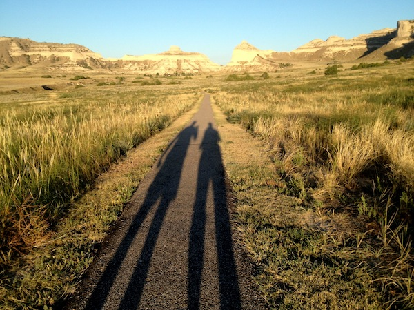 Me and Bugman, on a Scotts Bluff National Monument pathway. Sometimes I have to pinch myself to be sure I am not dreaming and that I truly live only 5 miles from scenery this beautiful.