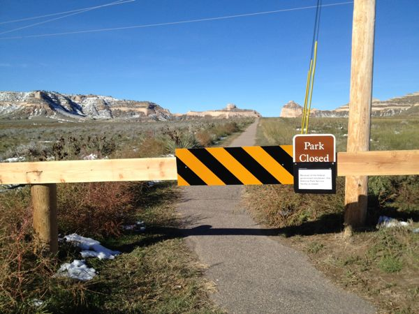 Good thing our planned route did not include Scotts Bluff National Monument. #governmentshutdown #geethankscongress So glad the parks are open again!!!