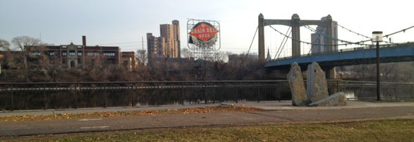 The course ran along the Mississippi River downtown, giving great views of the remnants of turn-of-the-century Midwest industry.