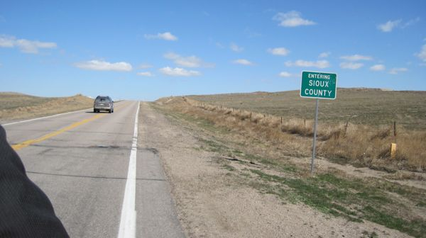 entering sioux county