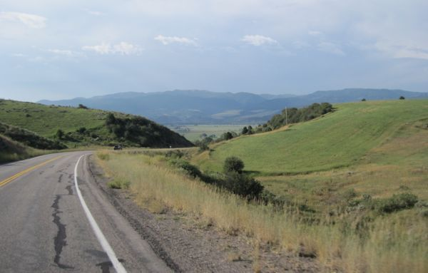 This was my favorite part of the ride - a fast, clean descent into Swan Valley. We hit about 28 mph going down this hill.