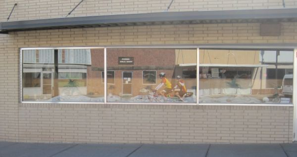 Reflections in downtown Kimball