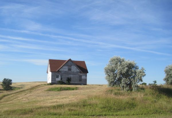 An old, lonely house on Highway 30.