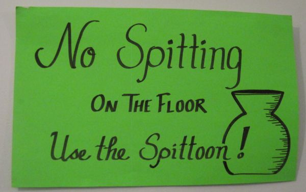 use the spittoon