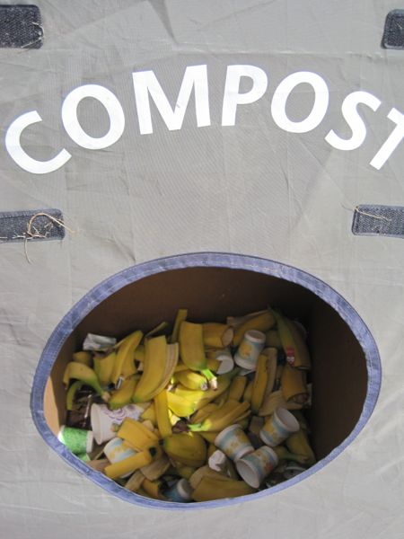 By Day 3, we were all getting conditioned to the Zero Hero trash tents. To be as environmentally friendly as possible, we separated our trash on this ride, into recyclables, trash, and compost. For some reason, the visual of yellow banana peels and the Dixie cups with yellow ducks in the compost bin appealed to me. (Pun not intended, but acknowledged.)