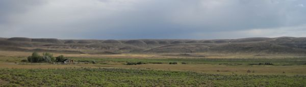 There were some strange landforms in the area. Those regular hills made me think of the Sidney Army Depot.