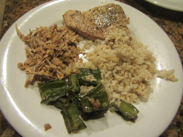 We served up the banana flower as an accompaniment to a meal of sauteed winged beans, brown rice, and bigeye ahi steaks.