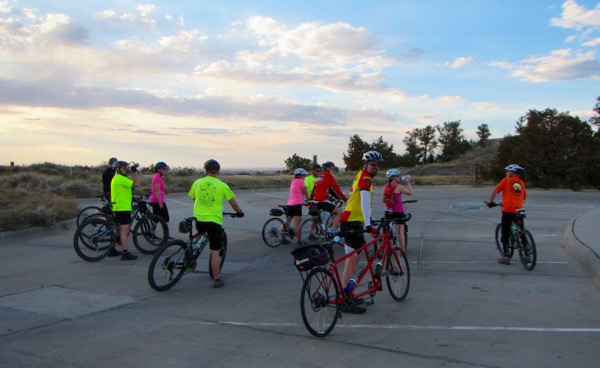 On March 31, about a dozen people cycled from the YMCA to Scotts Bluff National Monument Visitors Center, and then up to the top.