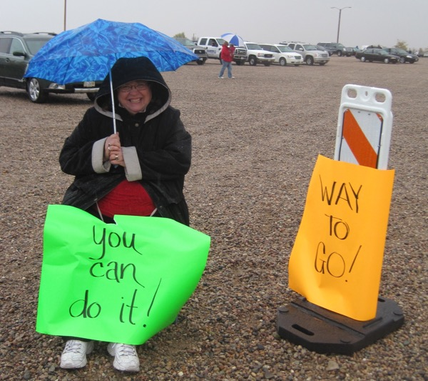 The drizzle on year 1 of the Monument Marathon in 2012 didn't dissuade this racing fan!