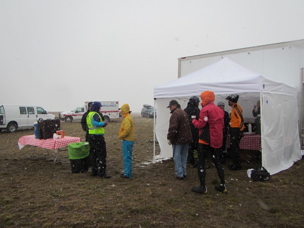 snow lunch tent wind