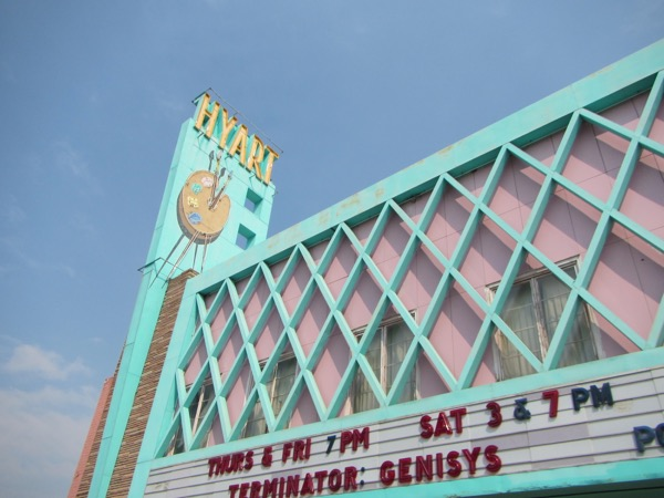 The Hyart Theater intrigued me.