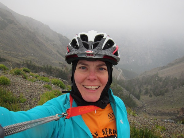 Hi. My name is Katie, which I often abbreviate as KT. I'm a writer. My husband, Jeff, AKA Bugman, is an entomologist. We're from Illinois originally, but we now live in western Nebraska, AKA Wyobraska. In 2013, we started riding a Co-motion tandem, Ferrari red (it goes faster, the dealer said). That same year we did our first CGY, and we keep coming back for more.
