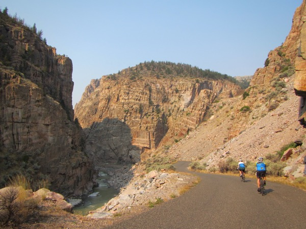 It's a very pretty ride down there in Shoshone Canyon.