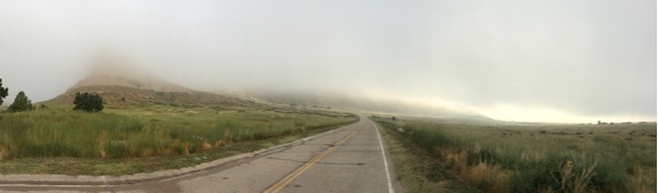 summit road fog pano
