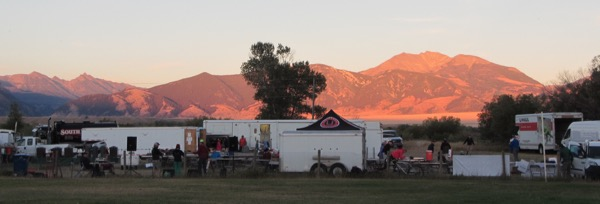 44 sunset in camp