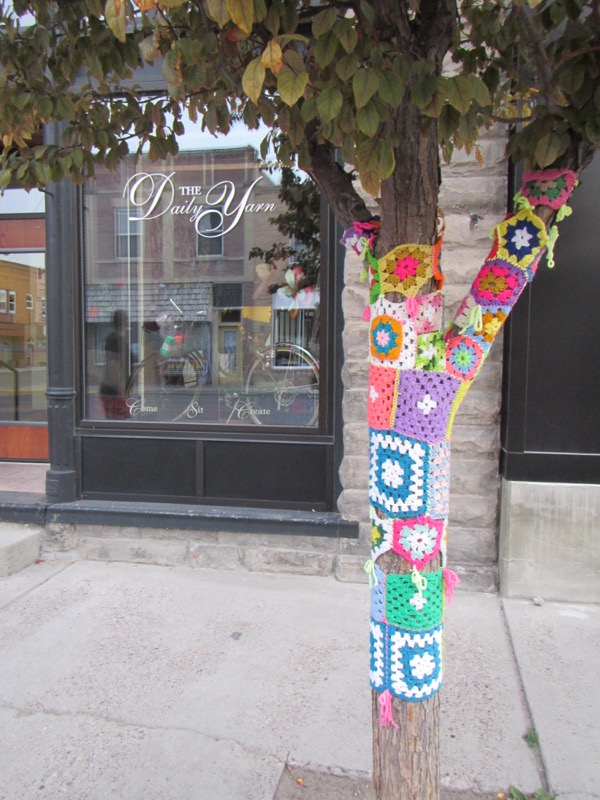 44 yarn bombed tree