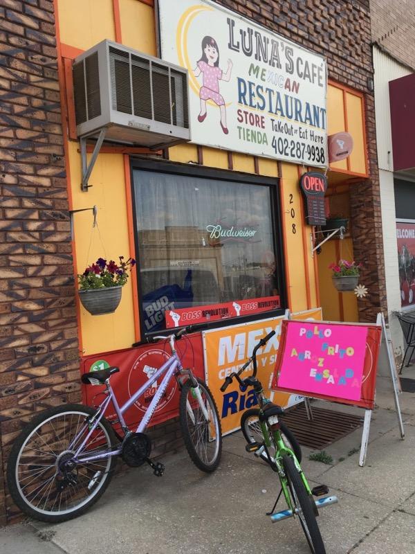 bike advertising lunas cafe