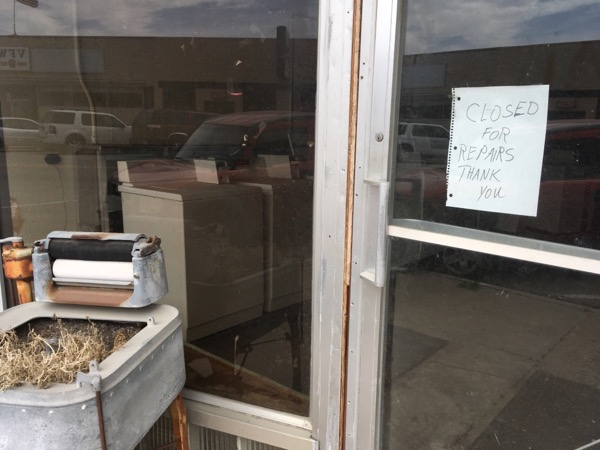 closed laundromat