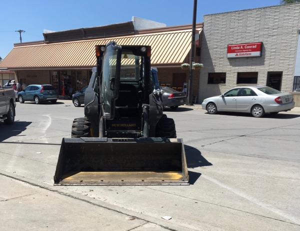 skid steer parking