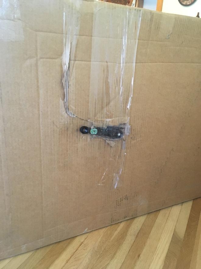 damaged bike box